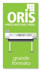 ORIS Pressmatcher è il sistema di gestione colore adatto per creare profili per il grande formato, risparmiare inchiostro e migliorare la qualità di stampa