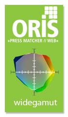 ORIS Widegamut permette di stampare immagini RGB su stampanti CMYK ottenendo la massima qualità di conversione