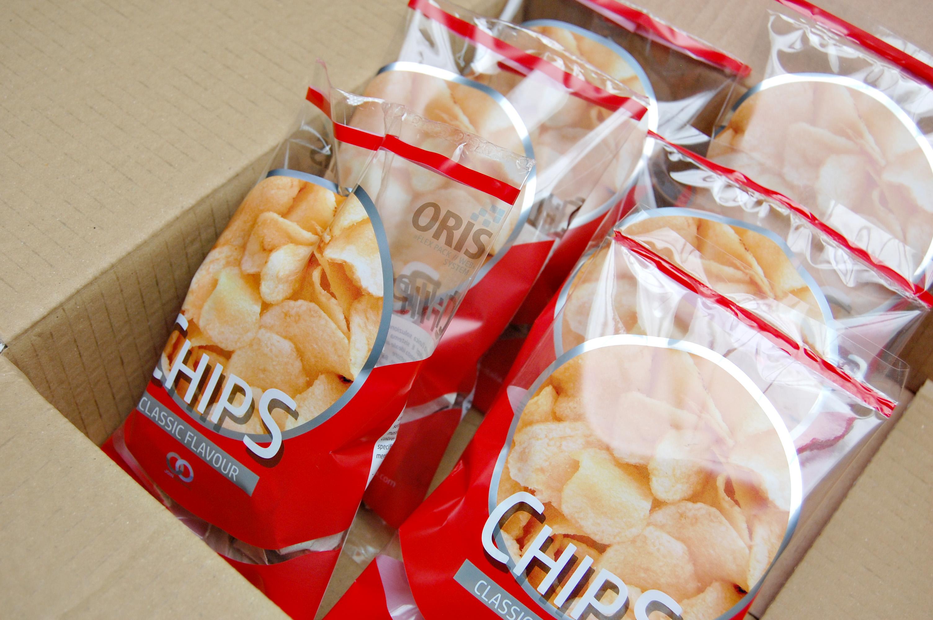 pacchetto patatine stampa digitale