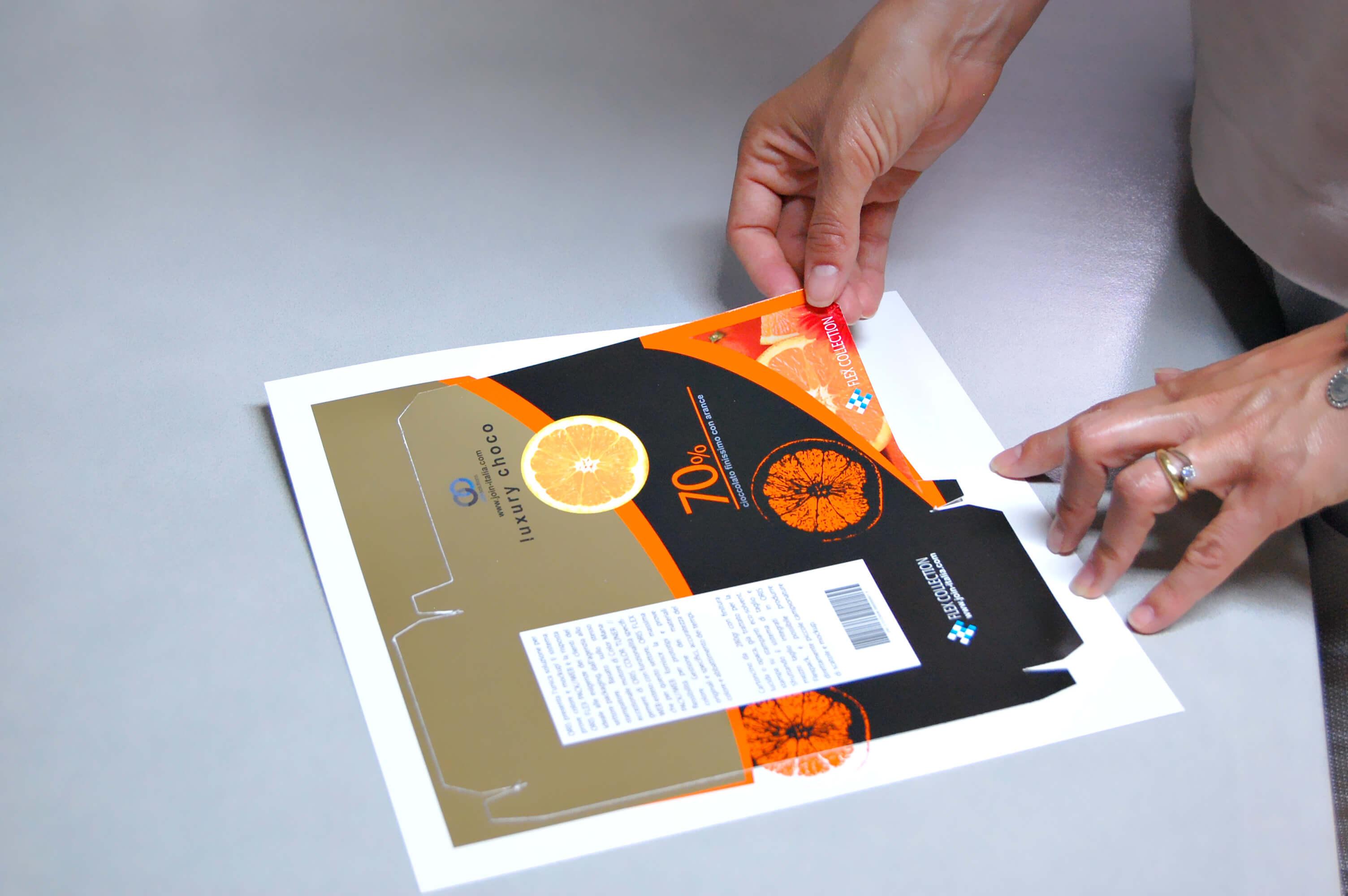 stampa digitale e taglio con Roland e ORIS flexpack web