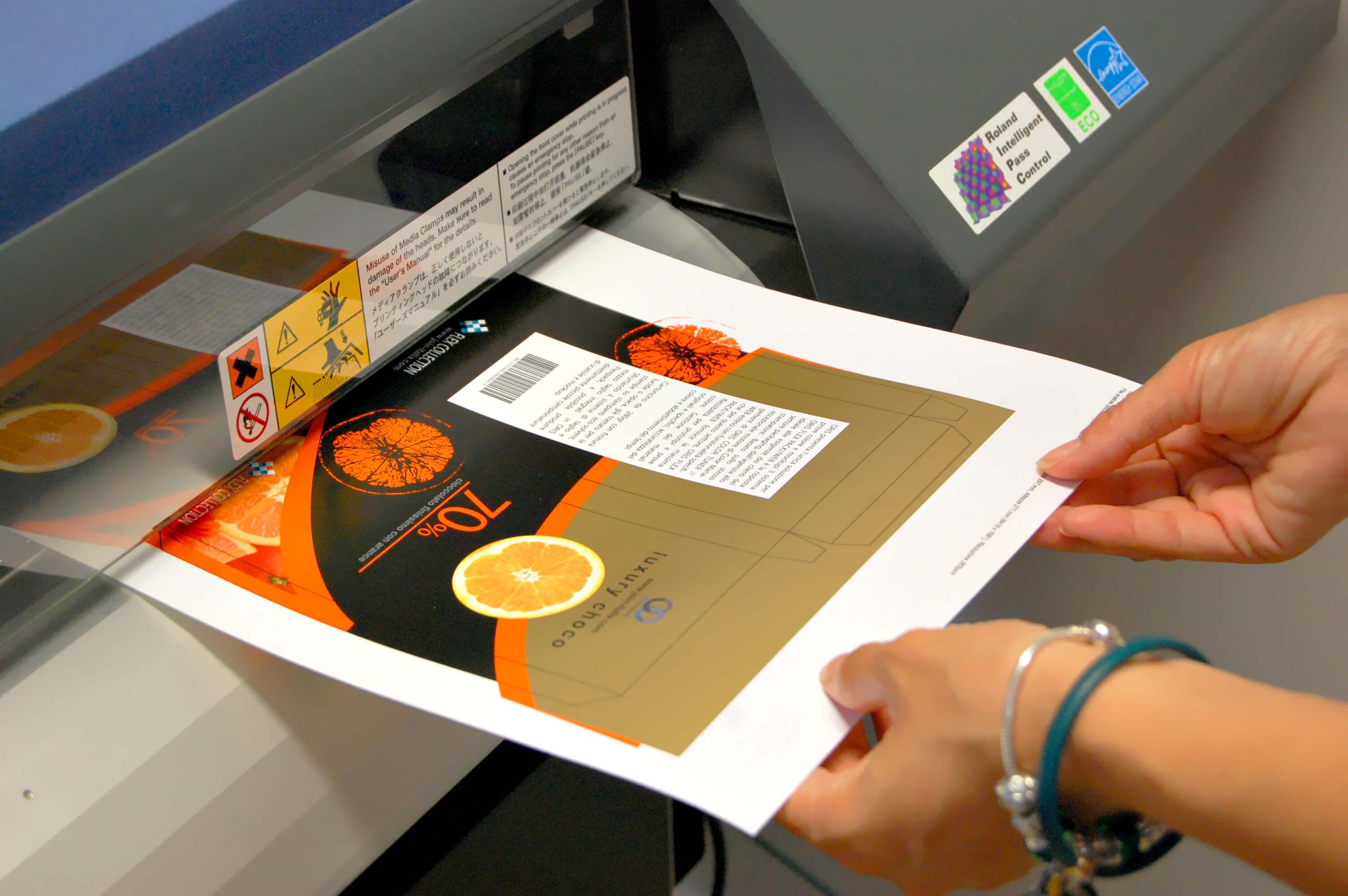 stampa oro su roland con ORIS flexpack web