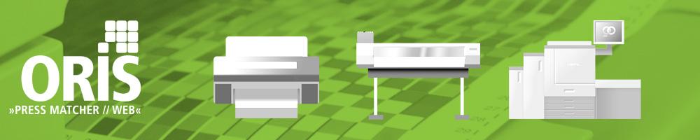 ORIS pressmatcher è il sistema dedicato alla gestione del colore per la stampa digitale