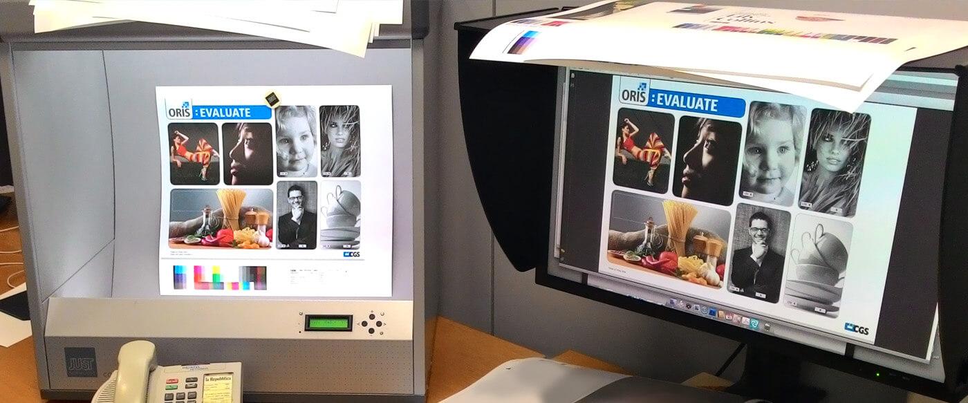prevedere il risultato di stampa a monitor grazie ad un buon color management